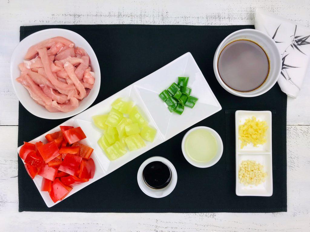 Porc cu ardei stir fry_ingrediente