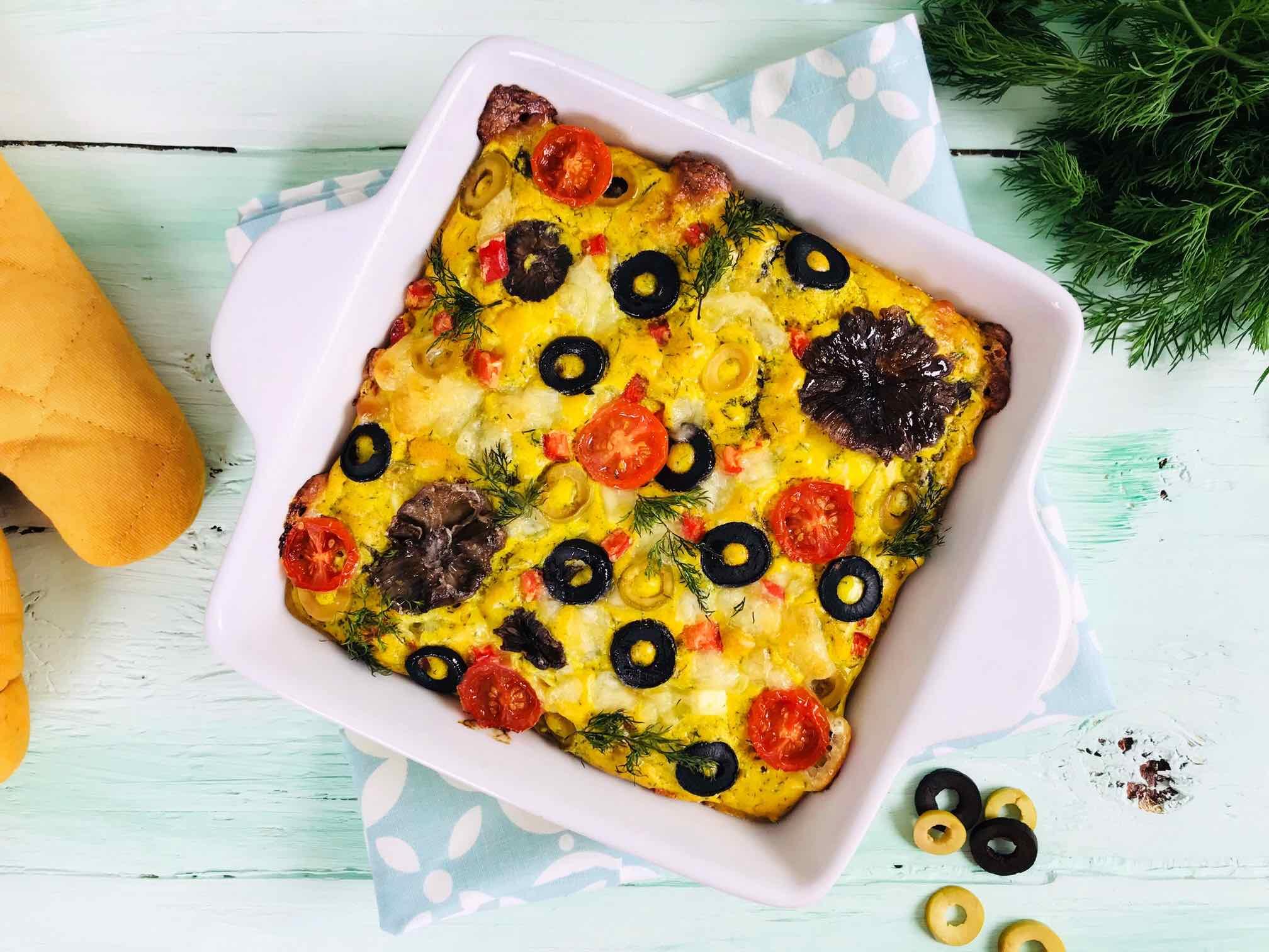 Tartă cu legume și brânză